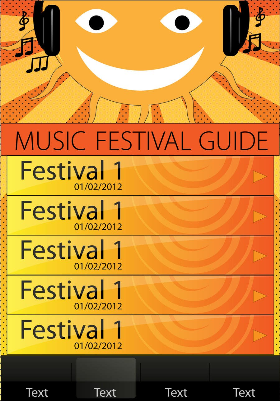 Contest Entry #1 for Graphic Design for Music Festival Guide (iPhone Application)