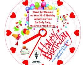 Nro 7 kilpailuun I need some Graphic Design for a birthday cake käyttäjältä A7mdSalama
