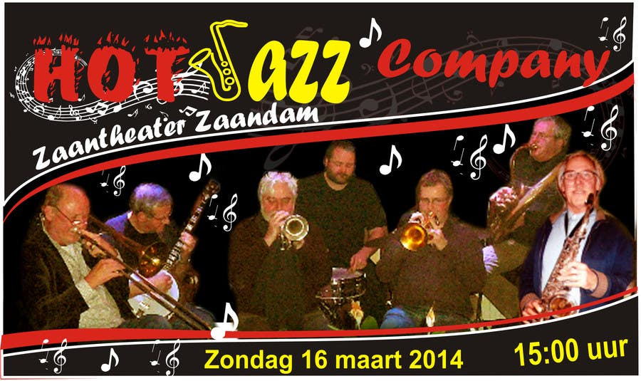 #20 for Design a simple band advertisement for Hot Jazz Company by inoka74