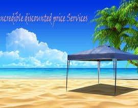 Nro 14 kilpailuun Design a Banner - Gazebo on the beach käyttäjältä Sayed2133