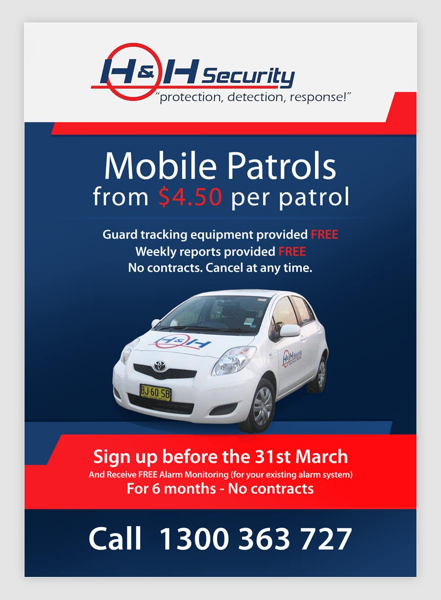 #42 for Design a Flyer for Mobile Patrol promotion by pris
