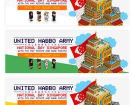 Nro 7 kilpailuun Design a website banner for singapore national day and habbo käyttäjältä ClaudiuTrusca