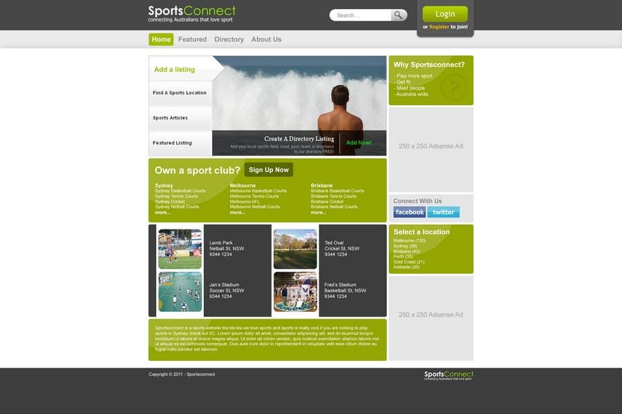 Inscrição nº 10 do Concurso para Website Design for Sportsconnect