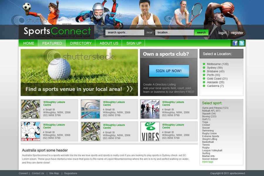 Inscrição nº 103 do Concurso para Website Design for Sportsconnect