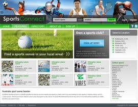 #103 för Website Design for Sportsconnect av fecodi
