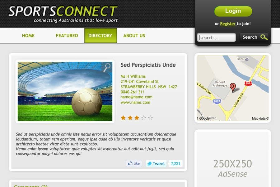 Inscrição nº 57 do Concurso para Website Design for Sportsconnect