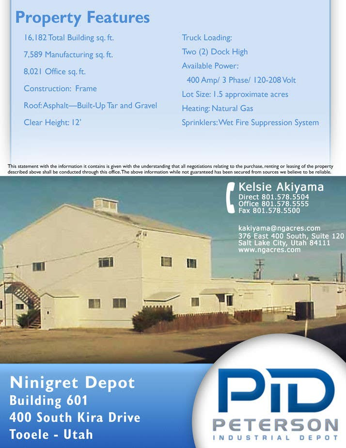 #38 for Design a Flyer for an Industrial Depot by andradedan