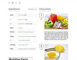 Nro 10 kilpailuun Re-design recipe page käyttäjältä Abdelrhman522