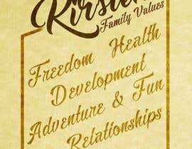 Nro 16 kilpailuun Design a Banner for our Family Values käyttäjältä jeffnelshabong
