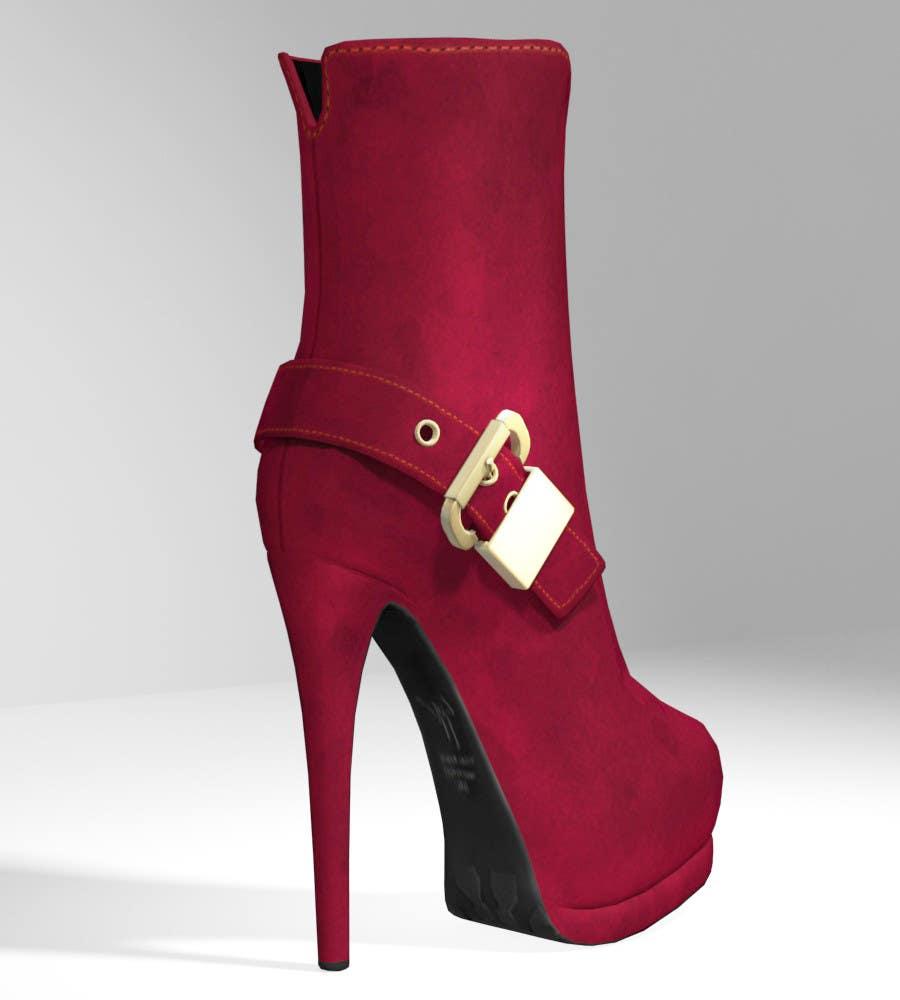 Kilpailutyö #16 kilpailussa Giuseppe Zanotti Buckled Ankle Boot - ( modelling - texturing )