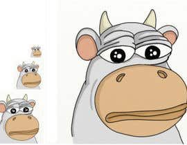 #5 for Draw a cartoon cow character to be used as an emoticon by Andymsh