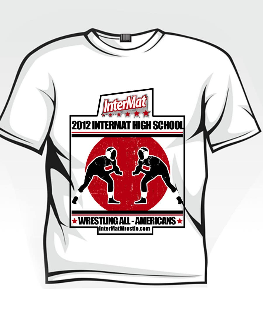 Конкурсная заявка №5 для T-shirt Design for InterMatWrestle.com