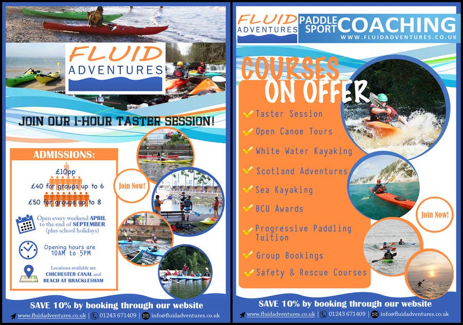 #19 for Design a Flyer for Kayaking Company by d231992