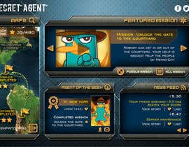 "#38 untuk Design a mockup of web-based game with a ""secret agent"" theme oleh enshano"