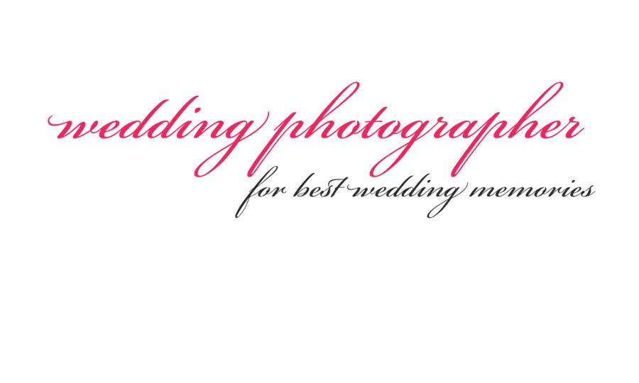 Contest Entry 87 For Write A Tag Line Slogan Wedding Photographer