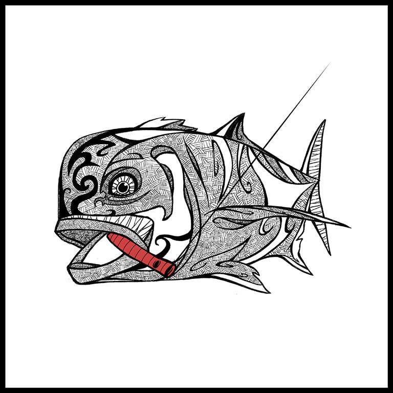 Kilpailutyö #29 kilpailussa T-shirt design for Trevally Fish