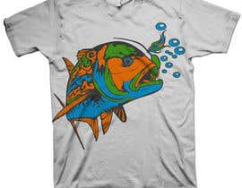 nº 16 pour T-shirt design for Trevally Fish par mckirbz
