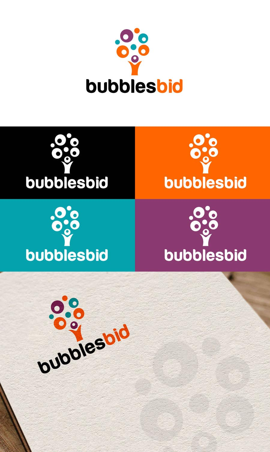 #64 for Design a Logo for www.bubblesbid.com web site by thimsbell