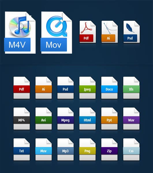 #22 for Design modern icons for media file types by Spreado