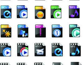 nº 4 pour Design modern icons for media file types par fo2shawy001