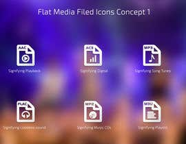 nº 5 pour Design modern icons for media file types par eleopardstudios