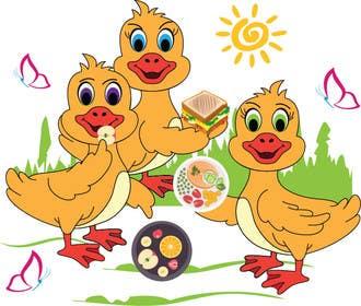 ANNONA100 tarafından Design cartoon Logo for 3 little ducks and their lunch orders için no 1