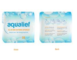 lareveuse tarafından Create  Packaging Design for aqualief all in one bathing sponge için no 33