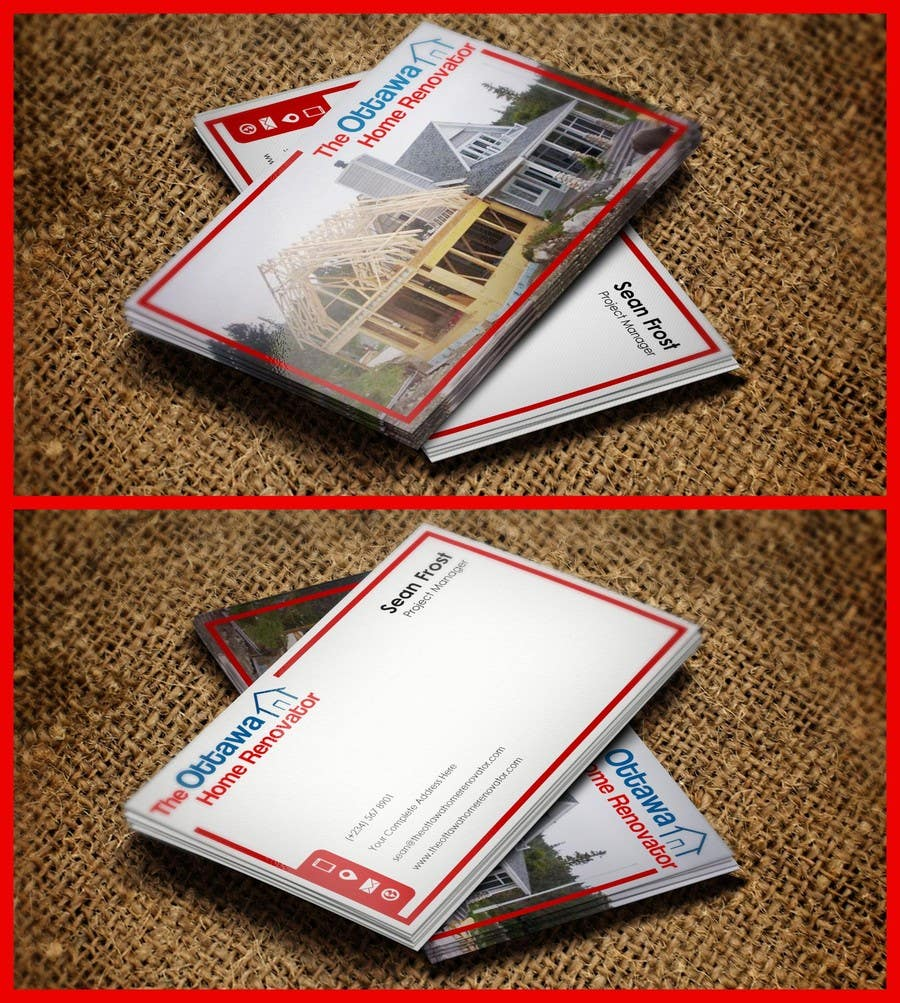 #46 for Design some Business Cards for The Ottawa Home Renovator by pointlesspixels