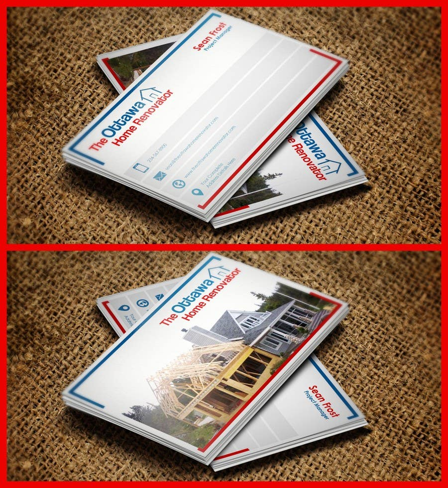 #47 for Design some Business Cards for The Ottawa Home Renovator by pointlesspixels