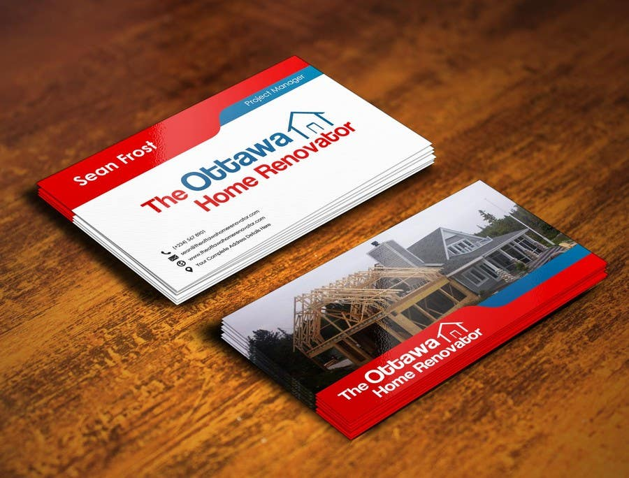 #55 for Design some Business Cards for The Ottawa Home Renovator by pointlesspixels