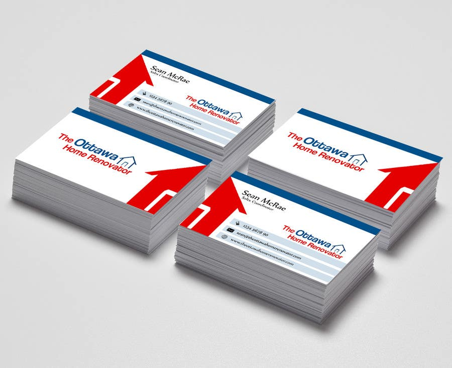 #29 for Design some Business Cards for The Ottawa Home Renovator by cdinesh008