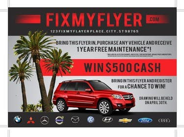 #24 for Design a Flyer for Local Car Dealership by TATHAE