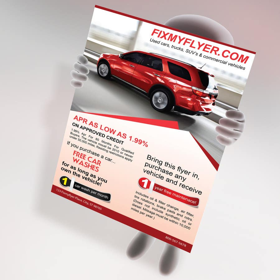 #38 for Design a Flyer for Local Car Dealership by tahira11