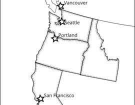 nº 2 pour Cartoonish maps (2) of the (northern) East and West Coasts of the USA par hugolazo