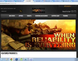 #36 untuk I Need a Main Image Designed for the Homepage of my Firearms Retail Website oleh clementalwin