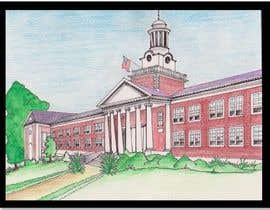 vrindajhajharia tarafından Draw Colored Sketch The College of New Jersey Green Hall For Diploma Frame için no 21