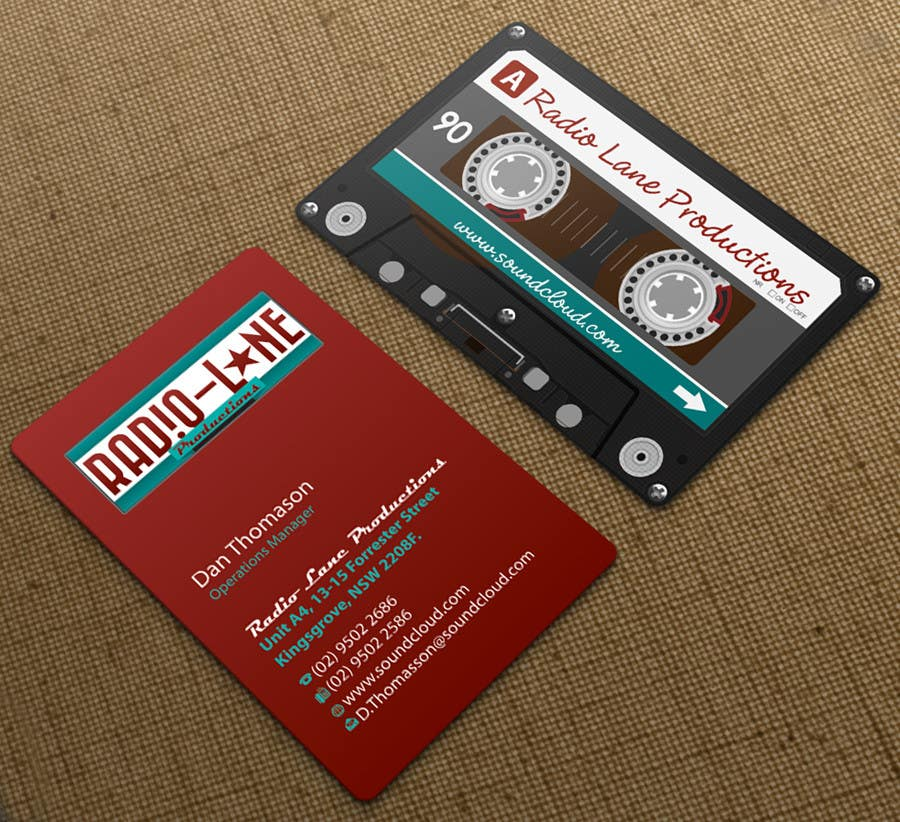 #16 for Design Business Cards for Radio Lane Productions by midget