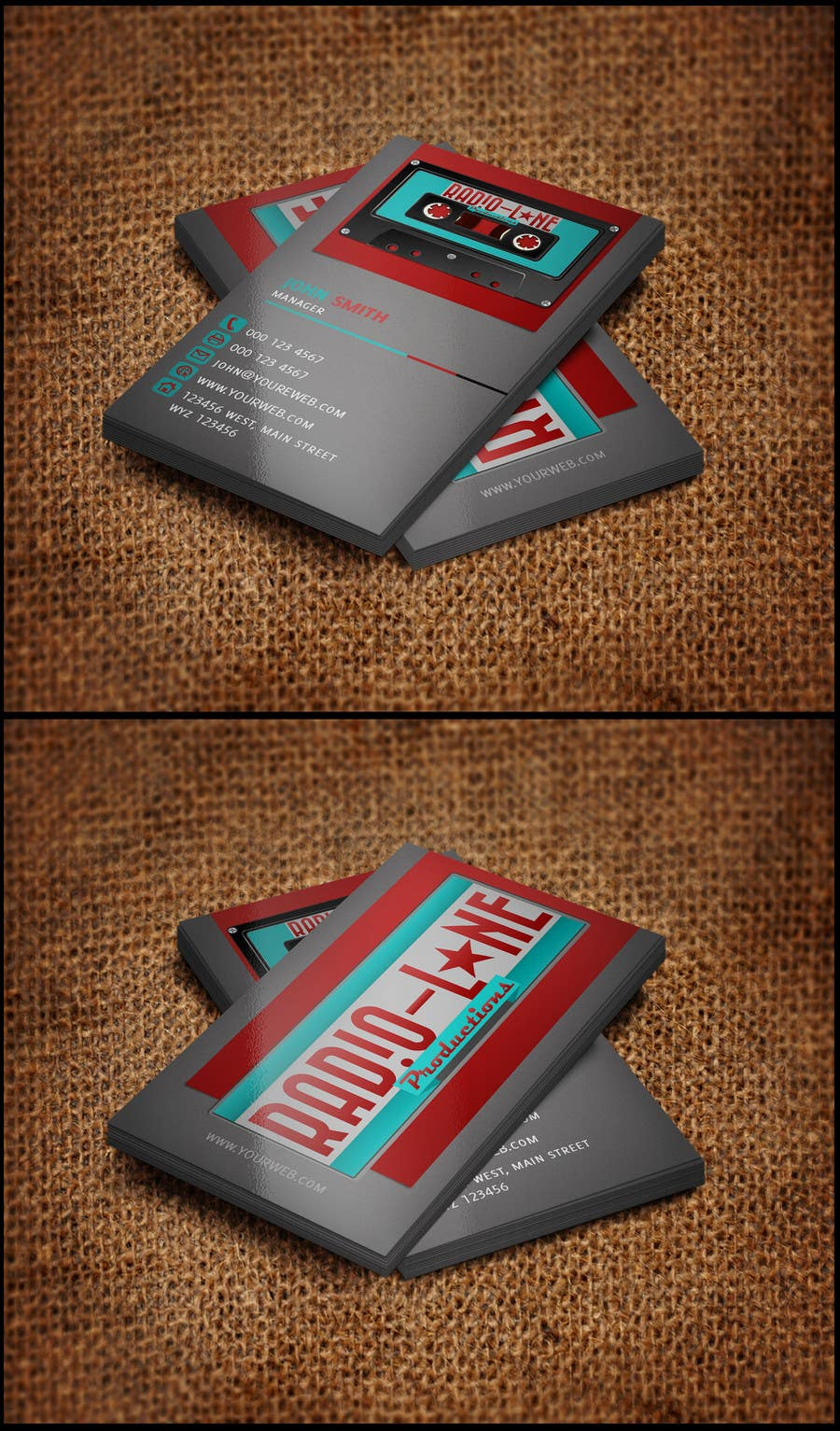 #11 for Design Business Cards for Radio Lane Productions by ilyasmahmood