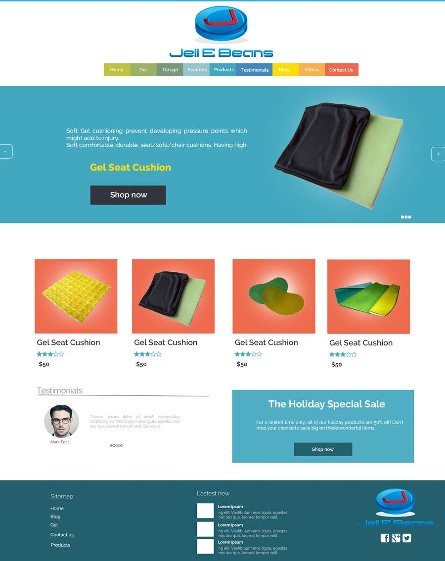 #5 for Build & Design a Website for Jell E Beans Inc. by codeunderground