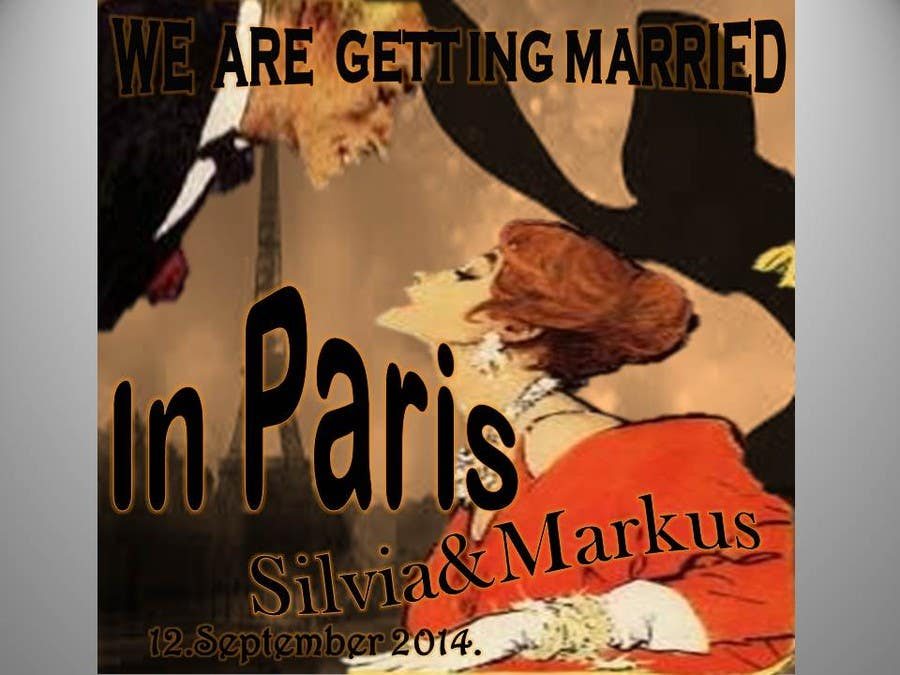 #33 for Design a Poster/Invitation for a Wedding Ceremony by vesnarankovic63
