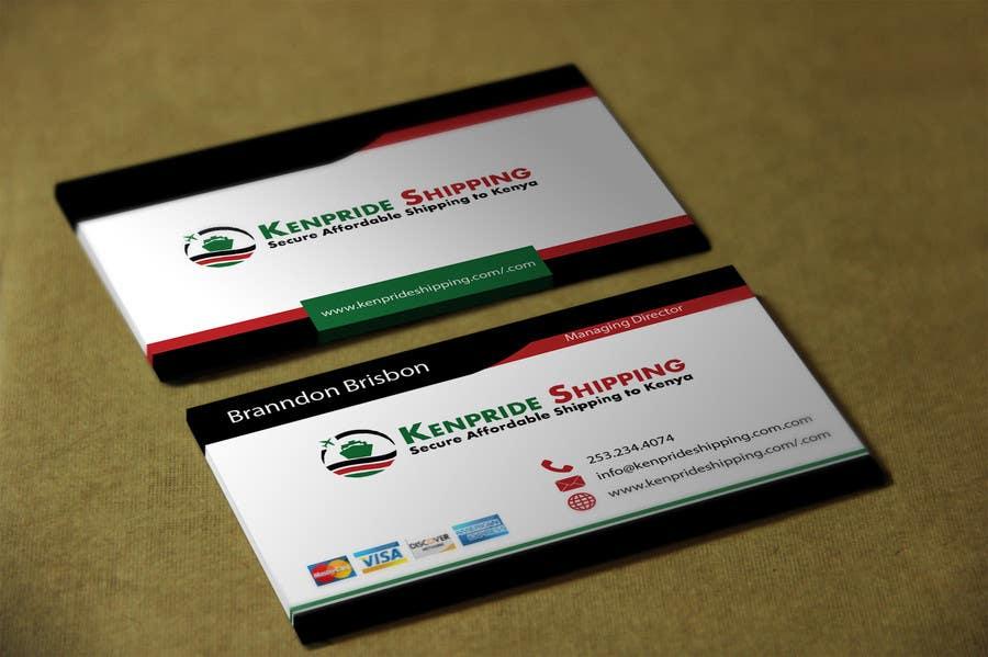 Penyertaan Peraduan #70 untuk Design some Business Cards for shipping company