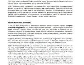 """maureendass tarafından Write a blog about """"The Decline of the Stockbroker"""" için no 4"""