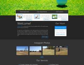 thewolfmenrock tarafından Design a Website Mockup for swingR golf için no 2