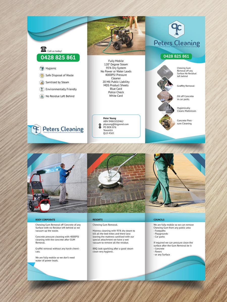 design a brochure logo for a cleaning company lancer 10 for design a brochure amp logo for a cleaning company by stovach