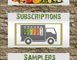 #19 para Design (3) Small Banners for Juice por NikolaySlavchev