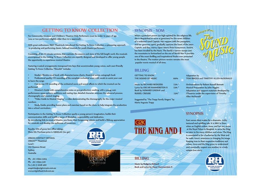 Design a Brochure for our G2K Musicals için 25 numaralı Yarışma Girdisi