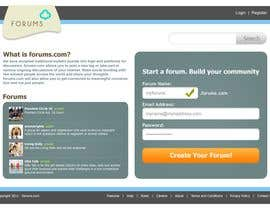 #7 untuk Website Design for Forums.com oleh Krishley