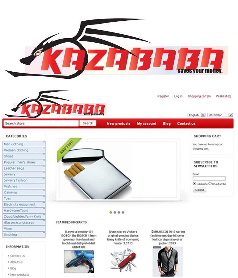 Konkurrenceindlæg #                                        182                                      for                                         Logo Design for kazababa