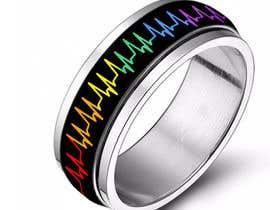 waqastariq01 tarafından Create a Rainbow EKG/wave Spinner Ring için no 19