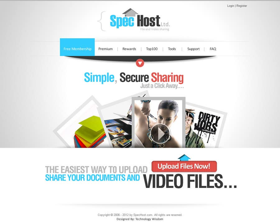 Contest Entry #                                        5                                      for                                         Website Design for Spec Host LTD